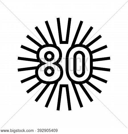 80s Nostalgia Line Icon Vector. 80s Nostalgia Sign. Isolated Contour Symbol Black Illustration