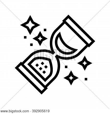 Retro Sandglass Line Icon Vector. Retro Sandglass Sign. Isolated Contour Symbol Black Illustration