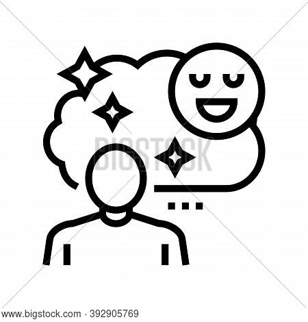 Childhood Nostalgia Line Icon Vector. Childhood Nostalgia Sign. Isolated Contour Symbol Black Illust