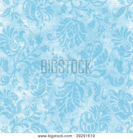Vintage Light Blue Floral Tapestry