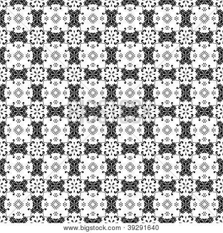 Black & White Ornate Background