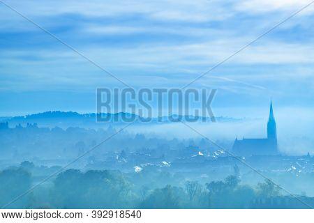 The Famous Clock Tower On Schlossberg Hill, In Graz, Styria Region, Austria, In Autumn