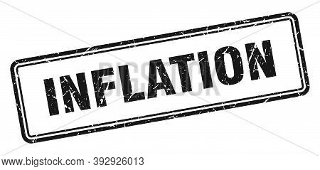 Inflation Stamp. Square Grunge Sign On White Background