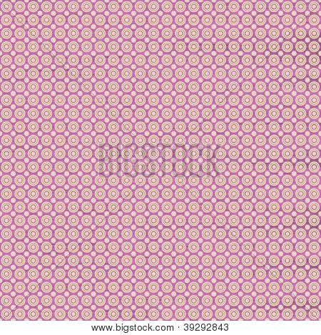 White And Pink Seamless Circles Pattern, Textured Background