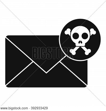 Danger Fraud Mail Icon. Simple Illustration Of Danger Fraud Mail Vector Icon For Web Design Isolated