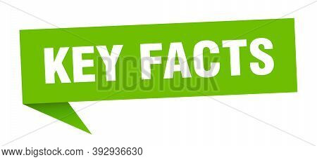 Key Facts Banner. Key Facts Speech Bubble. Key Facts Sign
