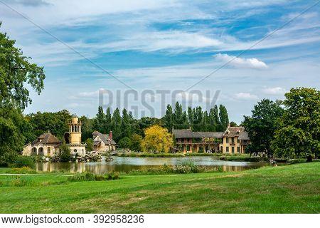 Versailles, France - August 28, 2019 : Queen S House In Marie-antoinette S Hamlet In Versailles. It