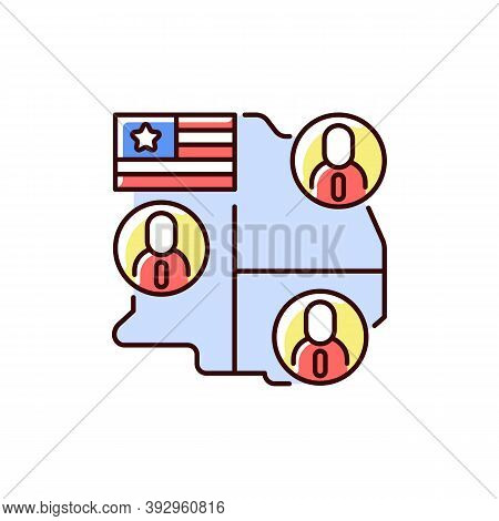 Electoral College Rgb Color Icon. Presidential Electors. Official Votes For President And Vice Presi