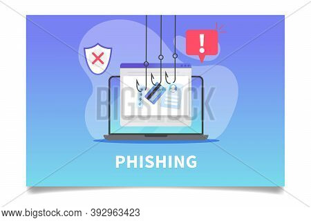 Internet Phishing, Stealing Credit Card Data, Account Password And User Id. Concept Of Hacking Perso