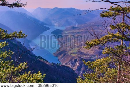 A Beautiful View In The Serbian Tara National Park On The Canyon Of The Drina River From The Banska