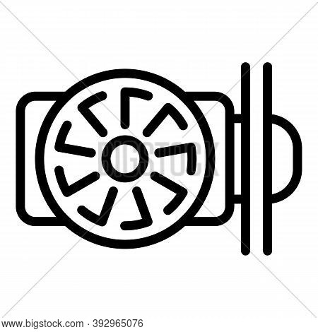 Centrifugal Pump Icon. Outline Centrifugal Pump Vector Icon For Web Design Isolated On White Backgro