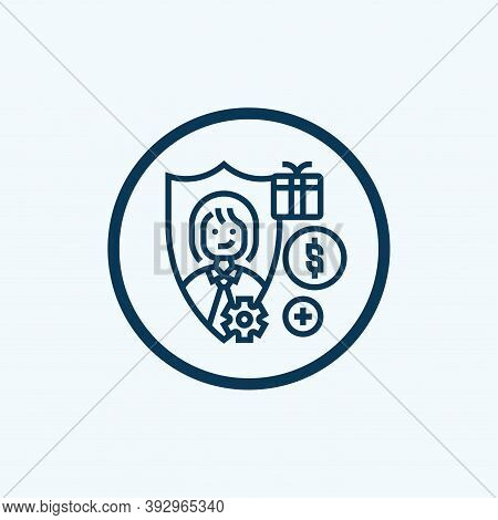 Employee Icon Isolated On White Background From Office Equipment Collection. Employee Icon Trendy An