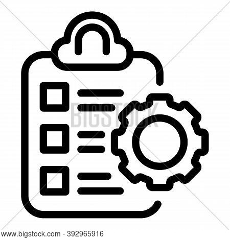 Assignment Icon. Outline Assignment Vector Icon For Web Design Isolated On White Background