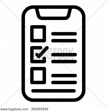 Phone Assignment Icon. Outline Phone Assignment Vector Icon For Web Design Isolated On White Backgro