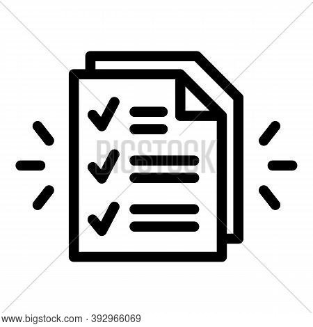 Assignment Paper Icon. Outline Assignment Paper Vector Icon For Web Design Isolated On White Backgro