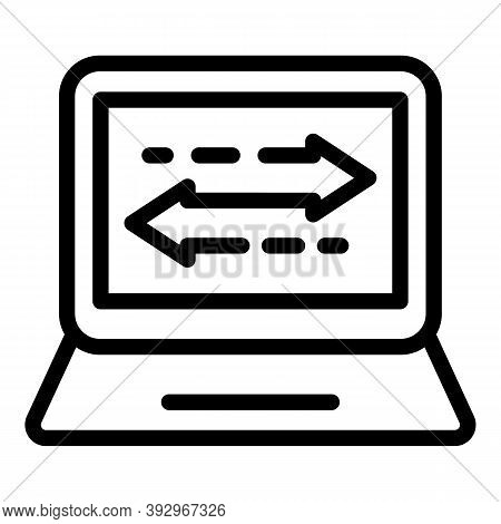 Digital Content Monetization Icon. Outline Digital Content Monetization Vector Icon For Web Design I