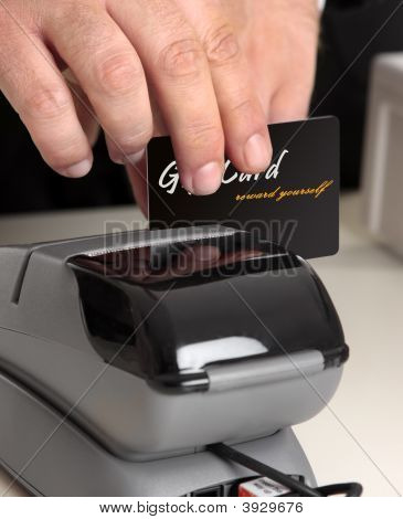 Swiping A Card Through A Terminal