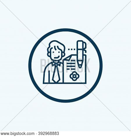 Hr Policies Icon Isolated On White Background From General Collection. Hr Policies Icon Trendy And M