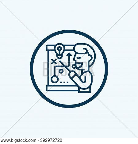 Strategical Planning Vector Icon On White Background. Strategical Planning Icon In Modern Design Sty