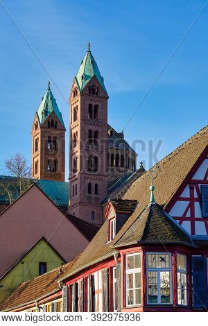Cathedral In Speyer, Germany. Officially Called The Imperial Cathedral Basilica Of The Assumption An