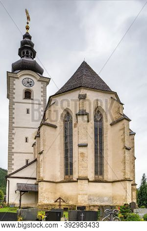 Parish Church In Lieding Village Near Strassburg,  Carinthia, Austria