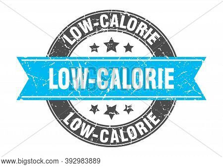 Low-calorie Round Stamp With Ribbon. Label Sign