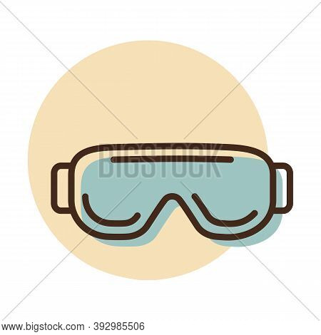 Biology Goggles Eye Protection Vector Icon. Scientific Lab Glasses. Medicine Sign. Graph Symbol For