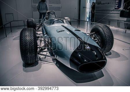 Munich/ Germany - May, 24 2019: Bmw 1600 Formula 2 F2 Bmw Museum/ Bmw Welt