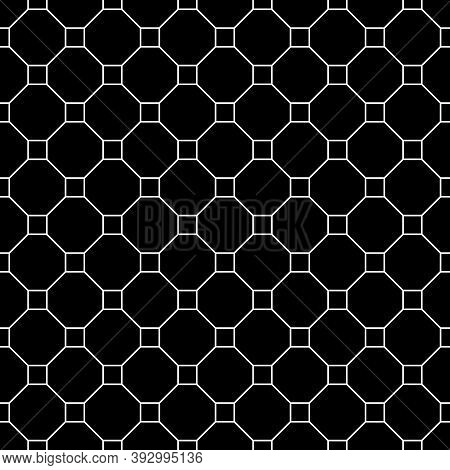 Repeated Black Figures On White Backgrounde. Geometric Wallpaper. Seamless Surface Pattern Design Wi