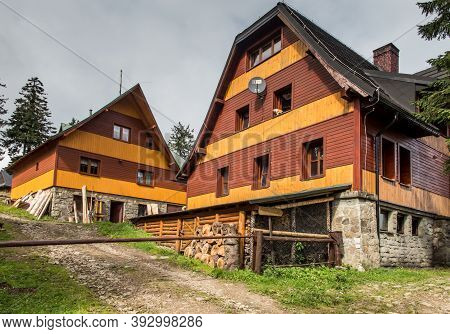 Hala Rysianka, Beskid Zywiecki, Poland, September 4, 2020: Mountain Tourist Hostel On Hala Rysianka