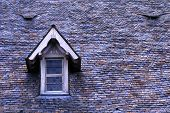 Tiles and Dormer Window on roof at Saint Michaels Mount (Mont Saint Michel). Normandy France poster