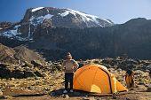 kilimanjaro 0barranco hut camp. poster