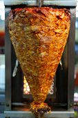 Mexican meat tacos al pastor barbacue pig poster