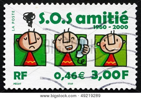 Postage Stamp France 2000 S.o.s. Amitie, 40Th Anniversary