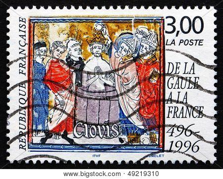 Postage Stamp France 1996 Baptism Of Clovis, 1500Th Anniversary