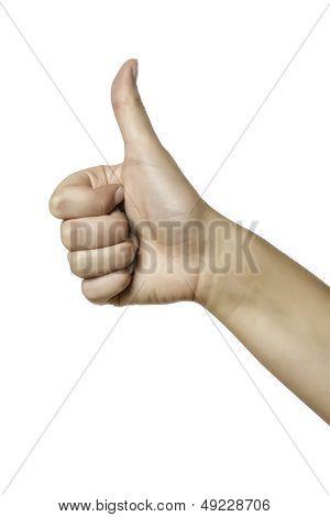 Closeup Female Thumb Up
