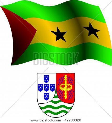 Sao Tome And Principe Wavy Flag And Coat