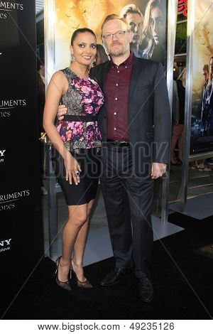 LOS ANGELES - AUG 12: Jared Harris, wife Allegra Riggio at the premiere of 'The Mortal Instruments: City of Bones' at ArcLight Cinemas Cinerama Dome on August 12, 2013 in Hollywood, California
