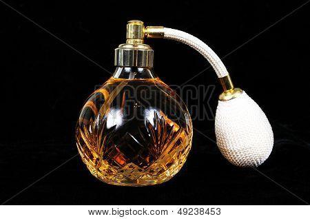 Glass crystal perfume bottle.
