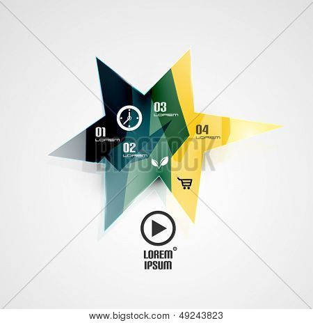 Vector cloud glossy modern infographics