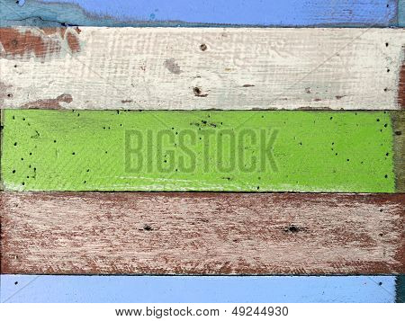 Green And Blue Tone Color Wood