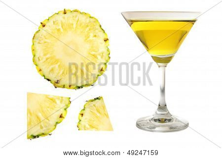 Pineapple Juice In Glass.