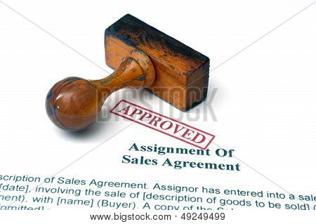 Assignment Of Sales Agreement