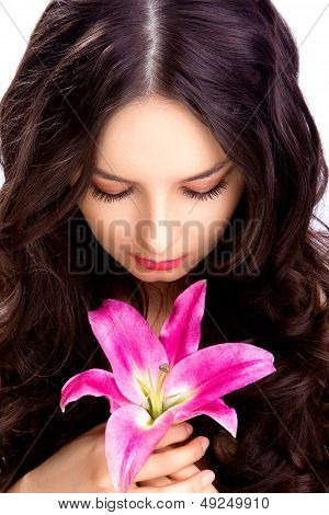 woman see on flower
