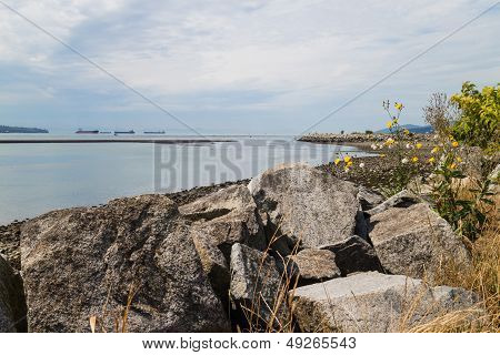Rocks At Ambleside Beach