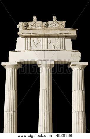 Ancient Greek temple of Delphi oracle