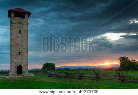 Antietam National Battlefield Observation Tower Sunrise