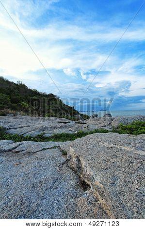 Sky and beach at Pattaya Thailand