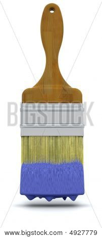 3D Render Of A Paint Brush