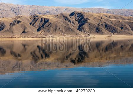 mountain reflected in the lake